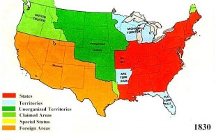 Westward Expansion Maps - Map of us territories 1860